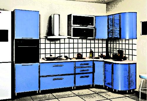 Кухни Пластик 01